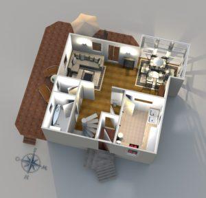 tkiBERLIN | 3D-Grundriss Einfamilienhaus