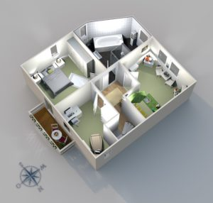 tkiBERLIN | 3D-Grundriss Maisonette