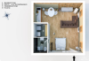 Möbliertes Designerapartment an der Markthalle Neun - Grundriss