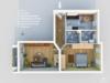 Vermietete Altbauwohnung mit 2 Zimmern und Balkon in ruhiger Lage - Der Grundriss