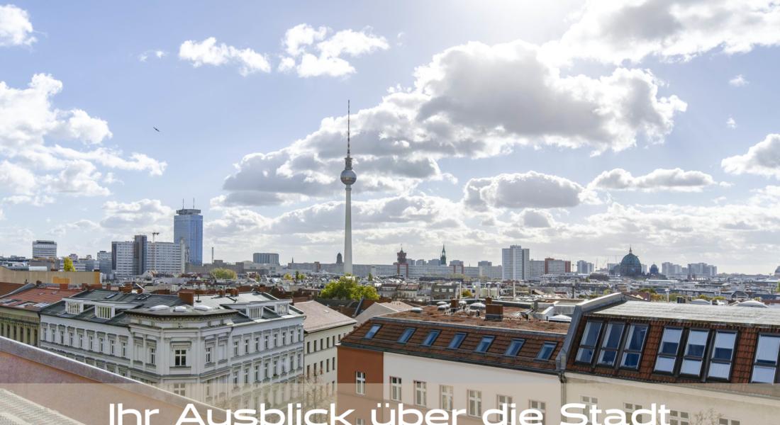 Modernes Penthouse mit exklusiver 360°-Dachterrasse, Kamin, 2 Bädern und EBK 10119 Berlin, Dachgeschosswohnung