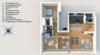 Modernes Penthouse mit exklusiver 360°-Dachterrasse, Kamin, 2 Bädern und EBK - Grundriss