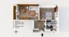 Möblierte 2-Zimmerwohnung mit Balkon und Stellplatz in zentraler Lage Moabits - Der Grundriss