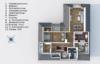 Seeblick inklusive: Gepflegte 4-Zimmerwohnung mit 2 Balkonen - Grundriss