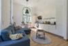 Insel Eiswerder: Moderne 2-Zimmerwohnung mit Terrasse in ehemaliger Feuerwerksfabrik - Küchenbereich