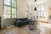 Insel Eiswerder: Moderne 2-Zimmerwohnung mit Terrasse in ehemaliger Feuerwerksfabrik - Wohnbereich