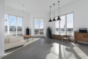 Modern möblierte Dachgeschosswohnung in perfekter Lage und Traumblick - Wohnzimmer