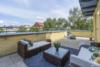Bezugsfreie DG-Maisonettewohnung mit grünem Blick über Pankow - Die untere Terrasse